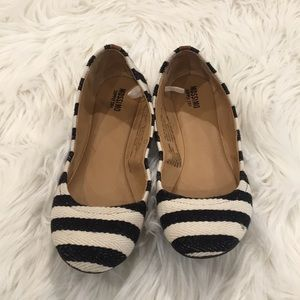 Mossimo Black and White Stripped Ballet Flats